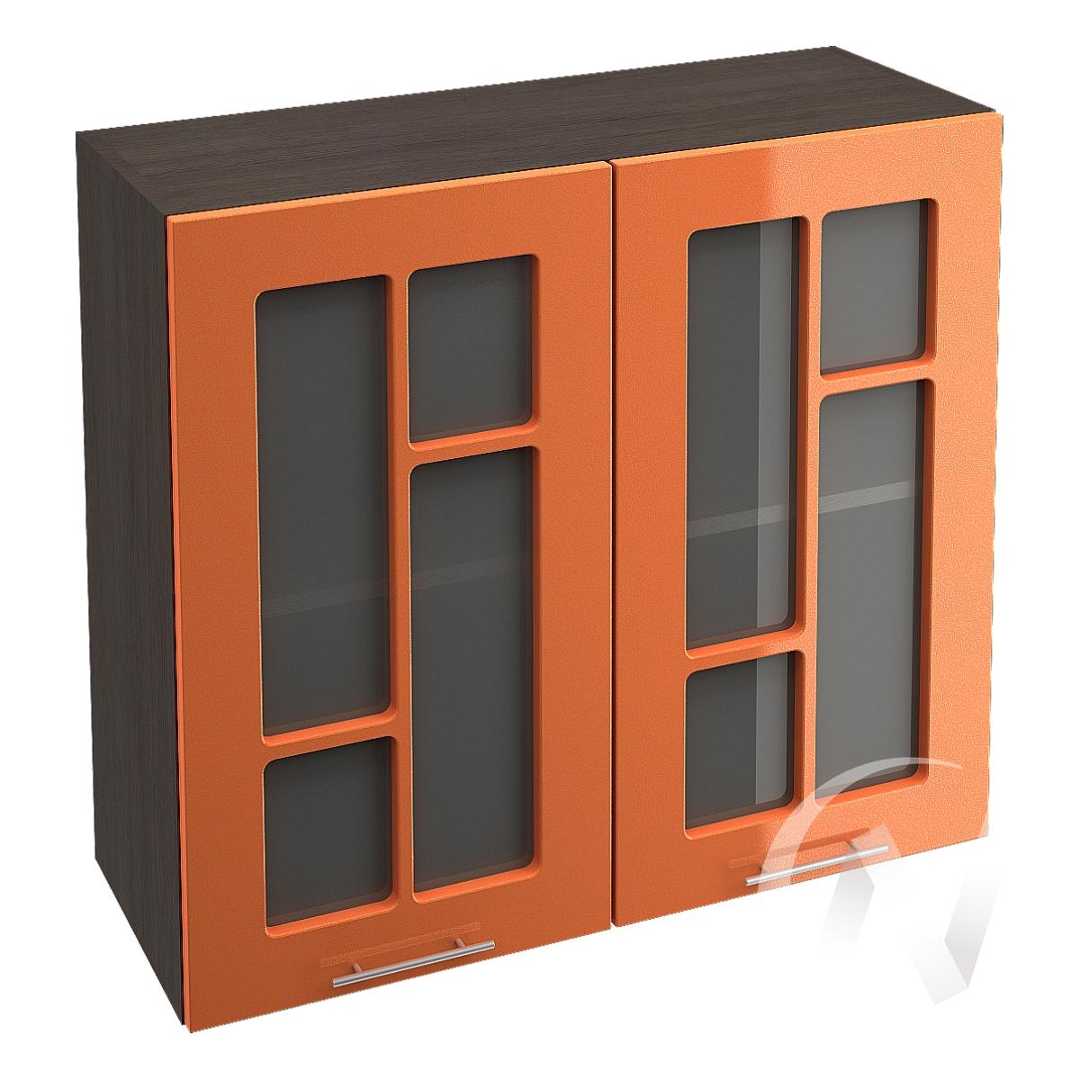 """Кухня """"Техно"""": Шкаф верхний со стеклом 800, ШВС 800 новый (корпус венге)"""