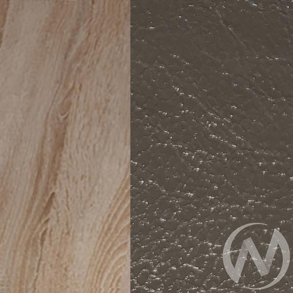 Обеденная группа тип 5 кожзам (дуб сонома/темно серый,серый)  в Томске — интернет магазин МИРА-мебель