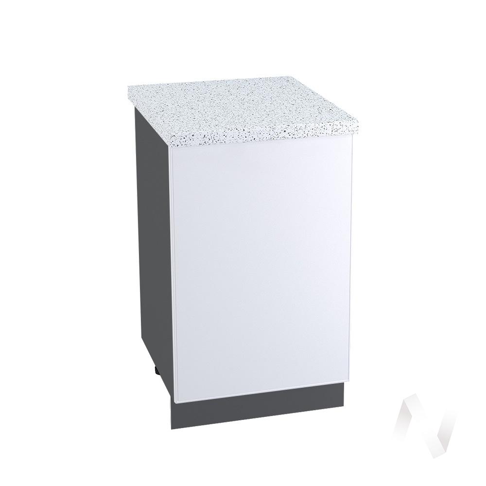 """Кухня """"Мемфис"""": Шкаф нижний 500, ШН 500 (белый софт/корпус венге)"""