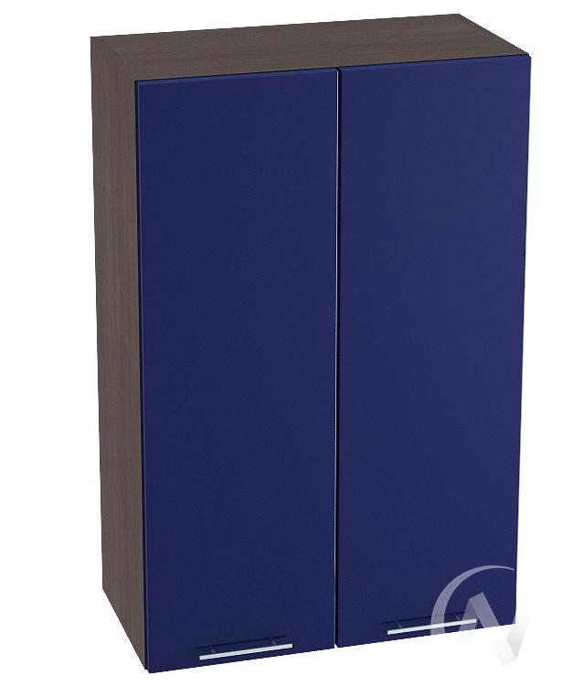 """Кухня """"Валерия-М"""": Шкаф верхний 609, ШВ 609 новый (Синий глянец/корпус венге)"""
