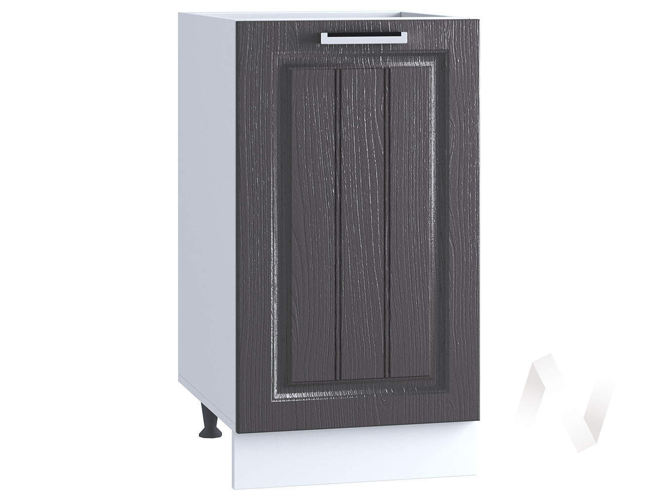 "Кухня ""Луксор"": Шкаф нижний 400, ШН 400 (Клен серый/корпус белый)"
