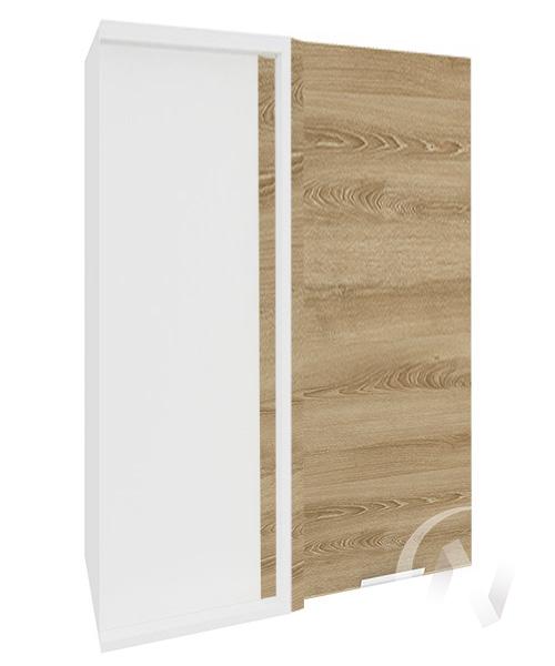 """Кухня """"Терра"""": Шкаф верхний угловой 699, ШВУ 699 (ель карпатская/корпус белый)"""