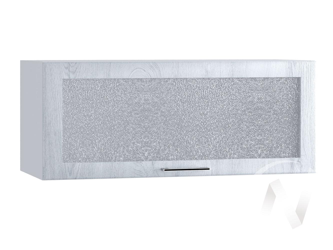 """Кухня """"Палермо"""": Шкаф верхний горизонтальный 800, ШВГС 800 (Дуб остин серый/корпус белый)"""