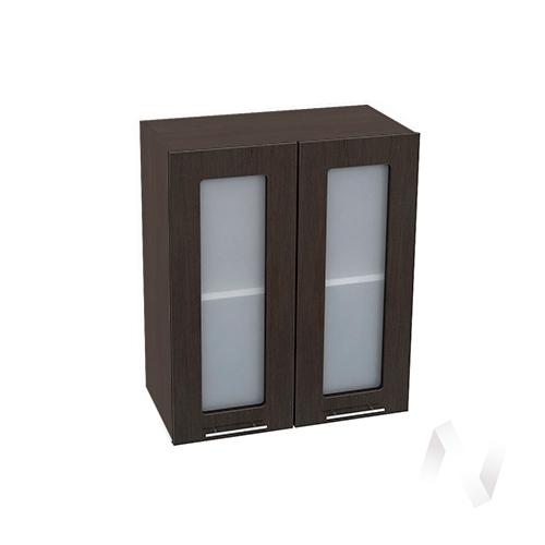 """Кухня """"Валерия-М"""": Шкаф верхний со стеклом 600, ШВС 600 новый (венге/корпус венге)"""