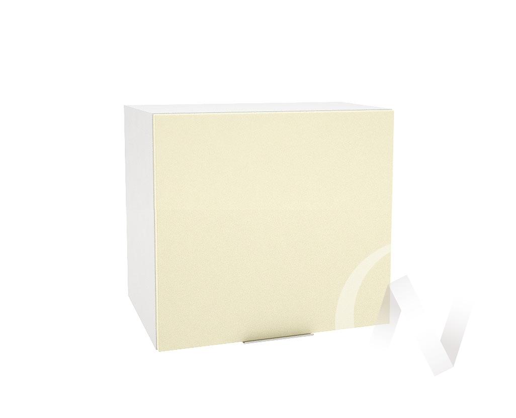 """Кухня """"Терра"""": Шкаф верхний горизонтальный 509, ШВГ 509 (ваниль софт/корпус белый)"""