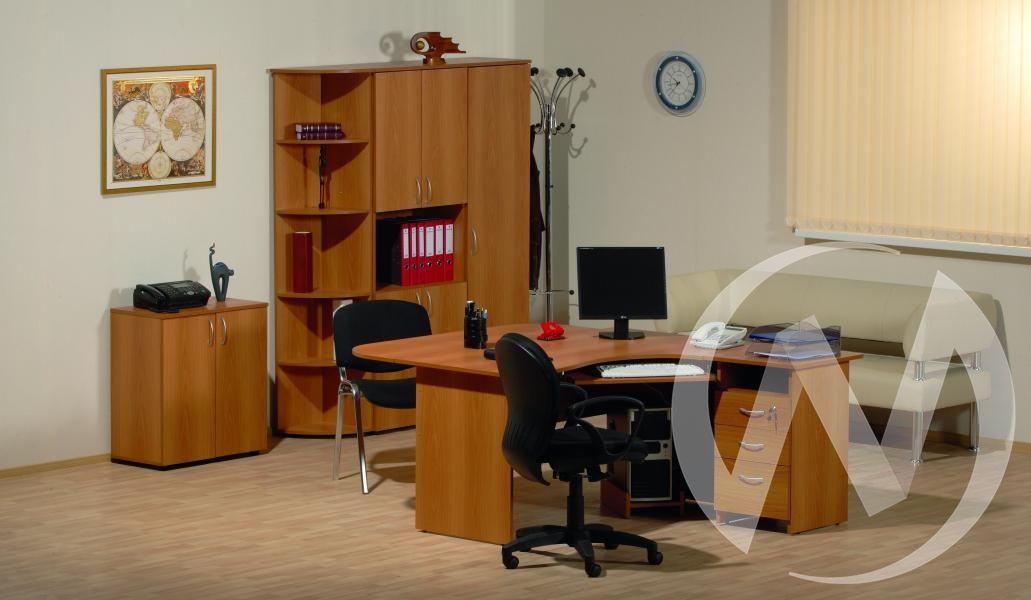 """Мебель для персонала """"Рубин"""" (Светлый миланский орех)"""