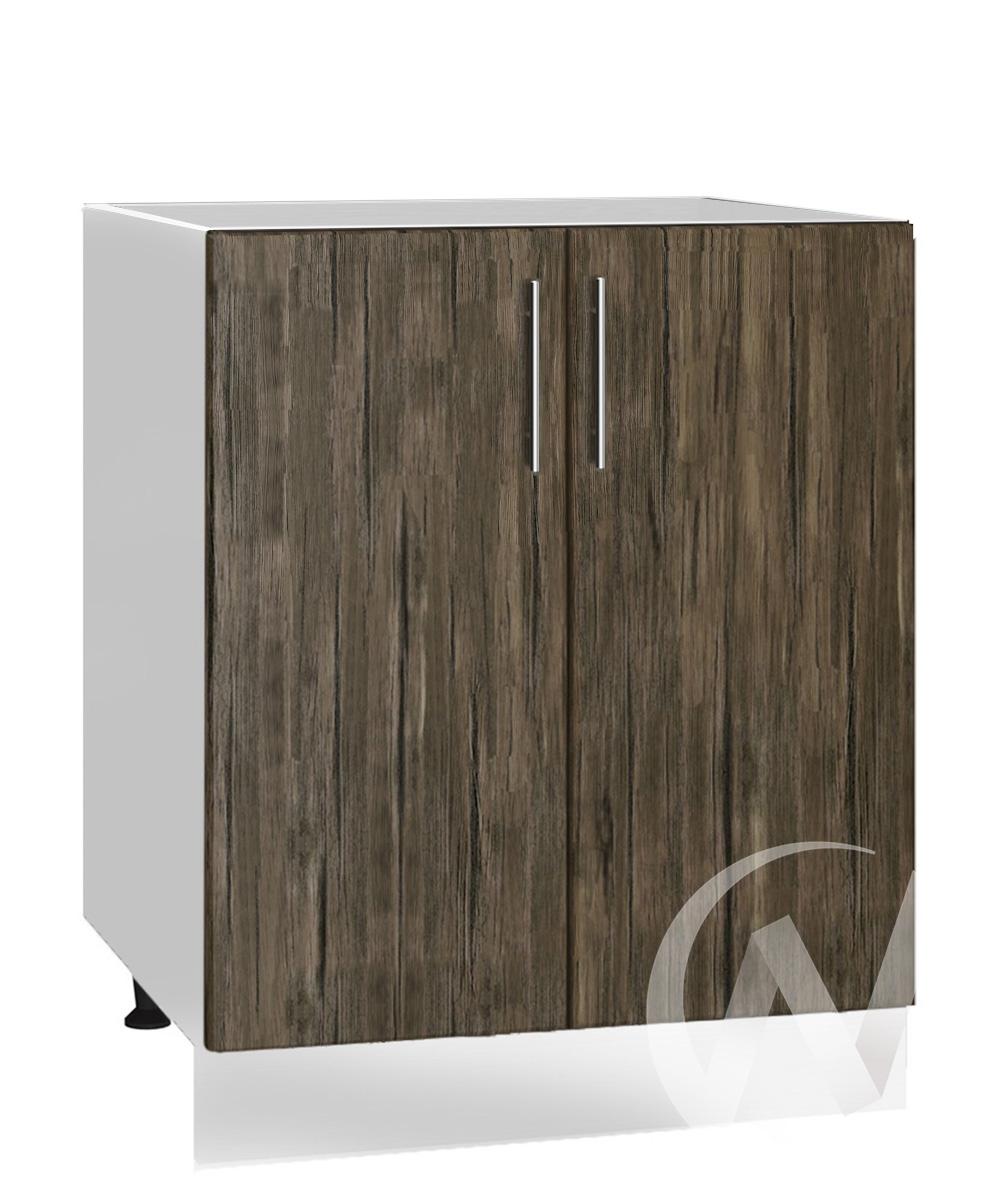 """Кухня """"Норден"""": Шкаф нижний под мойку 600, ШНМ 600 новый (старое дерево/корпус белый)"""