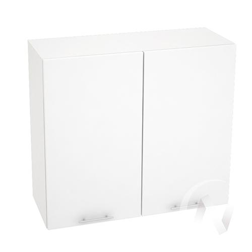 """Кухня """"Валерия-М"""": Шкаф верхний 800, ШВ 800 новый (белый металлик/корпус белый)"""