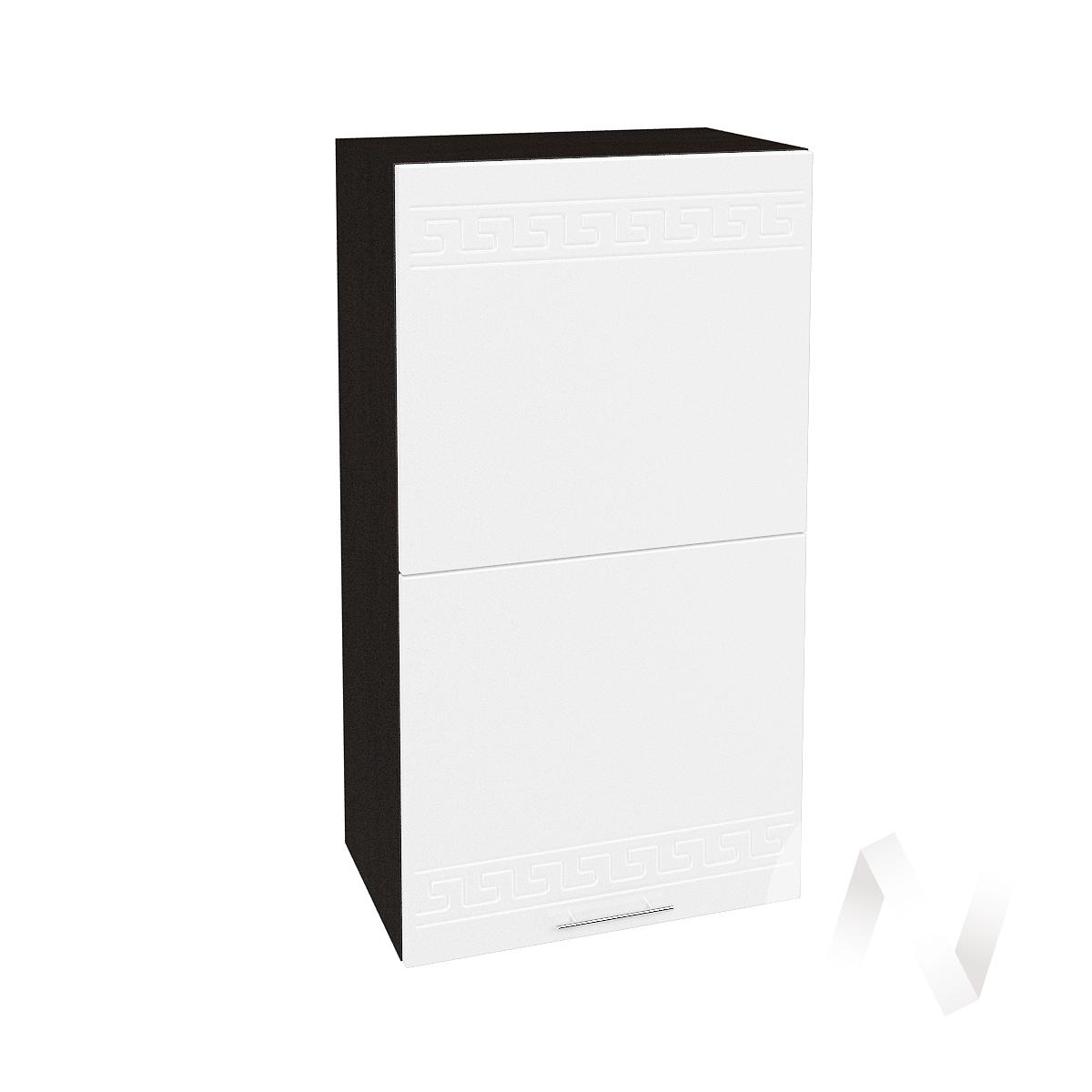 "Кухня ""Греция"": Шкаф верхний горизонтальный 502, ШВГ 502 (белый металлик/корпус венге)"