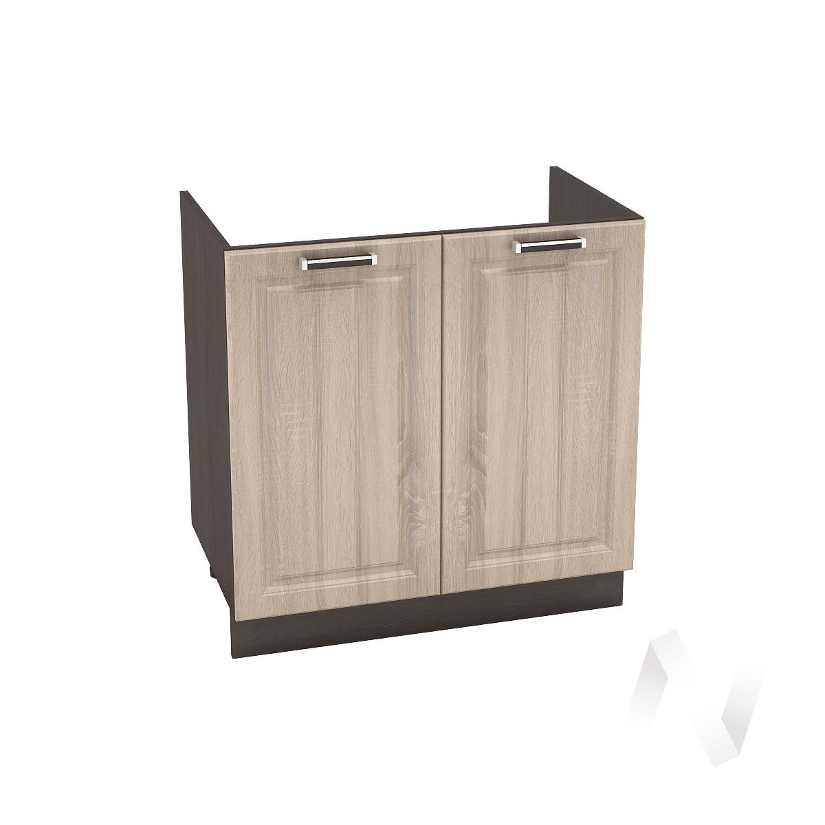 "Кухня ""Прага"": Шкаф нижний под мойку 800, ШНМ 800 новый (дуб сонома/корпус венге)"