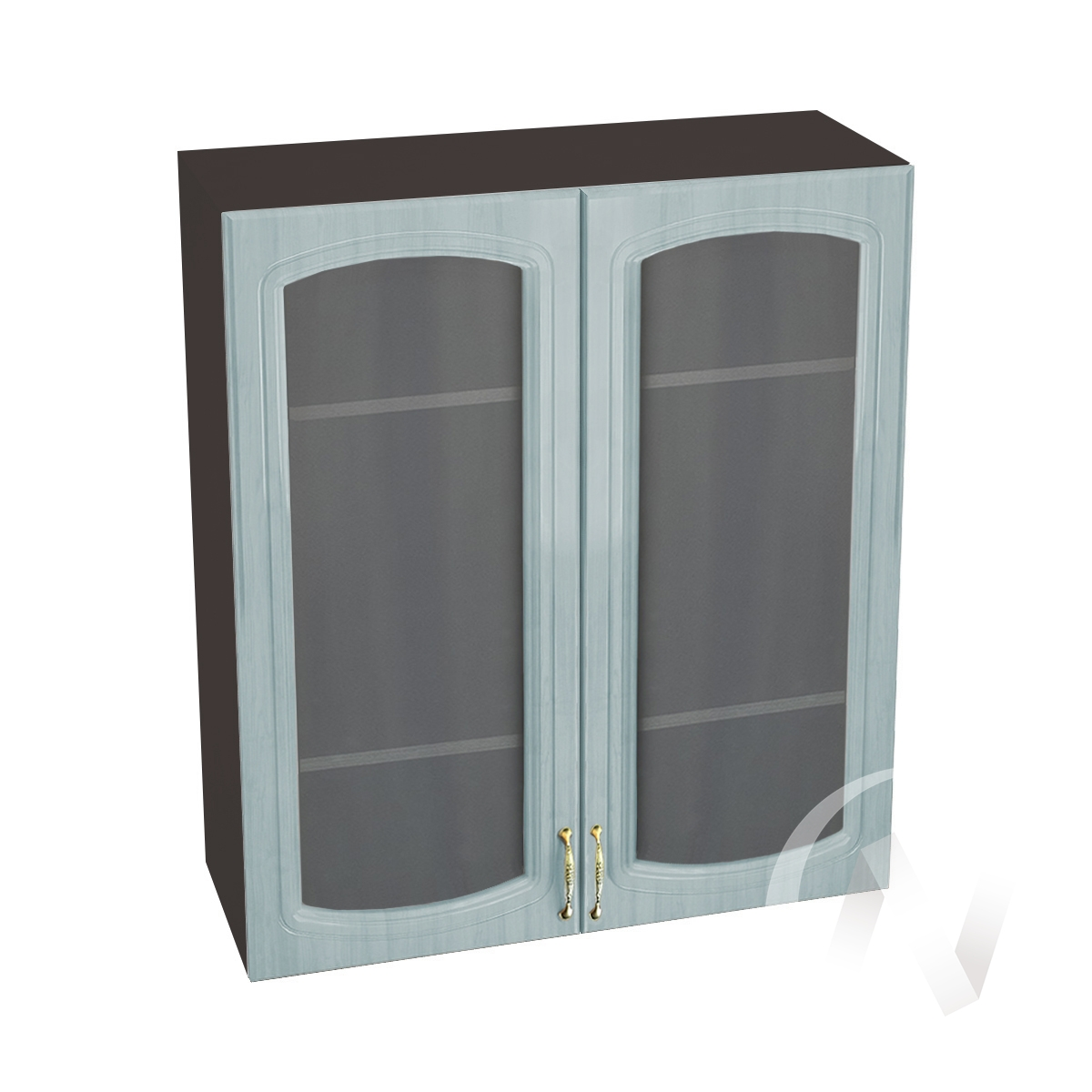 "Кухня ""Сити"": Шкаф верхний со стеклом 809, ШВС 809 (корпус венге)"
