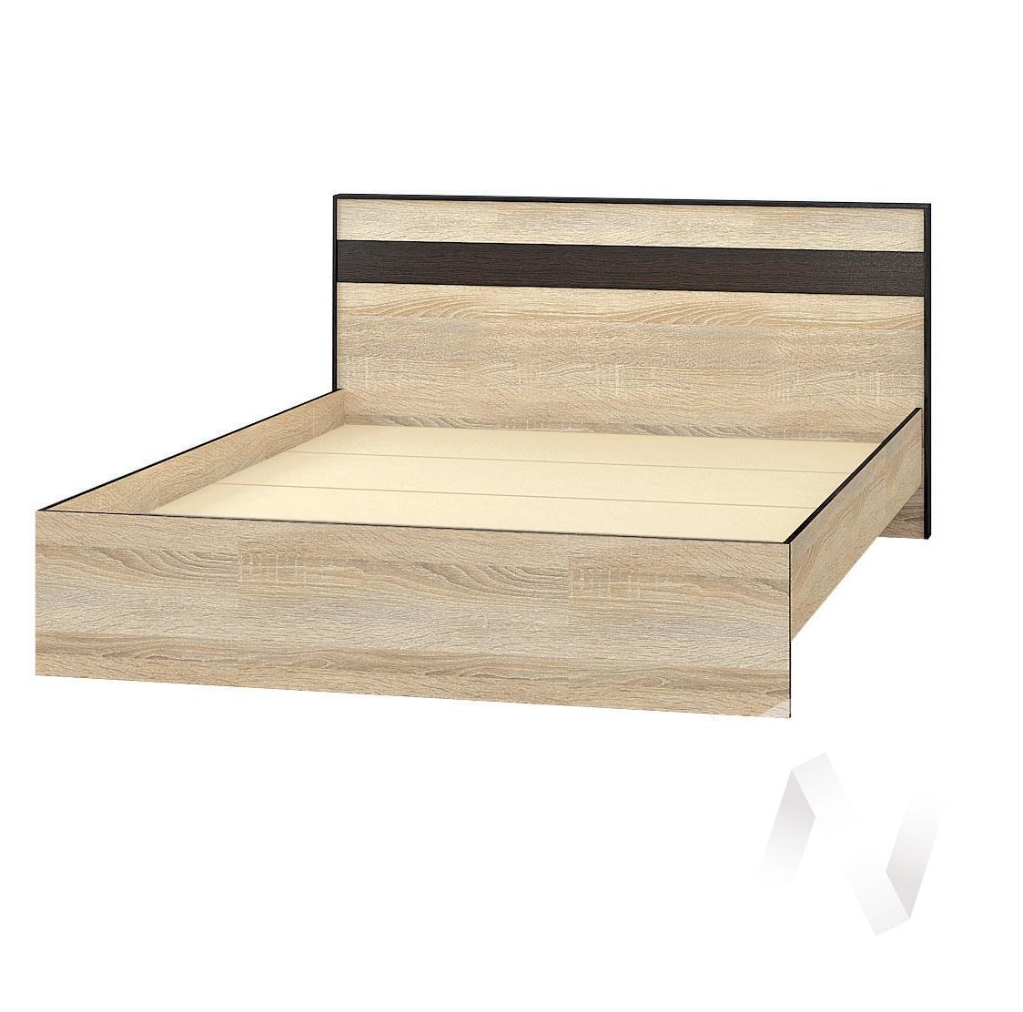 Корпус кровати 1,6м ЛК-2 Спальня Лирика (дуб сонома/венге)