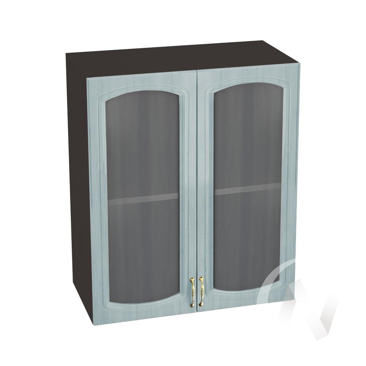 """Кухня """"Сити"""": Шкаф верхний со стеклом 600, ШВС 600 новый (корпус венге)"""