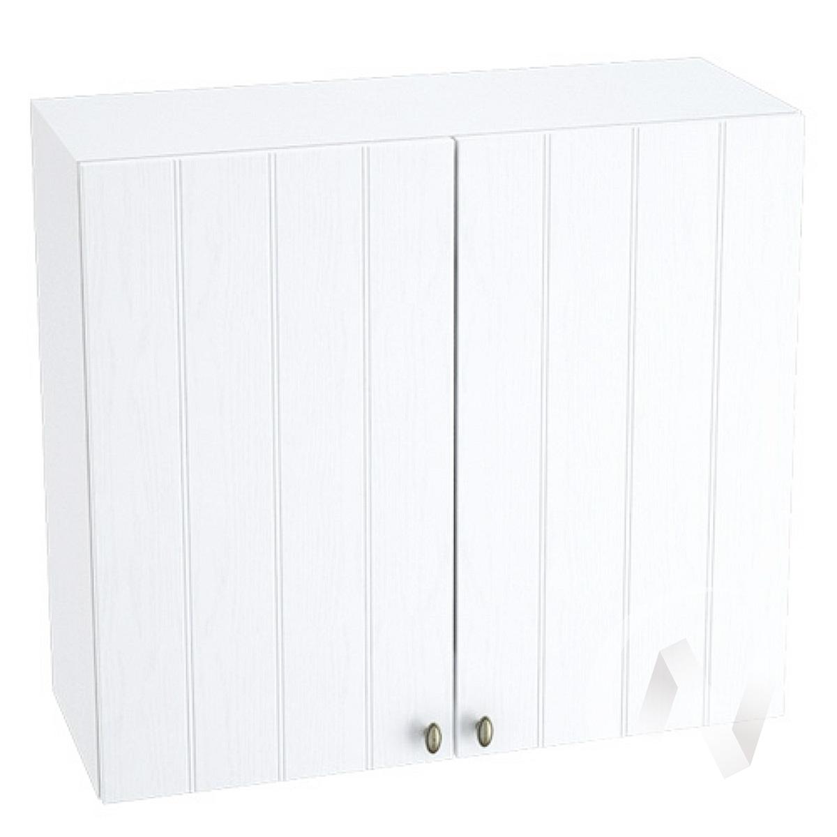 """Кухня """"Прованс"""": Шкаф верхний 800, ШВ 800 новый (белое дерево/корпус белый)"""