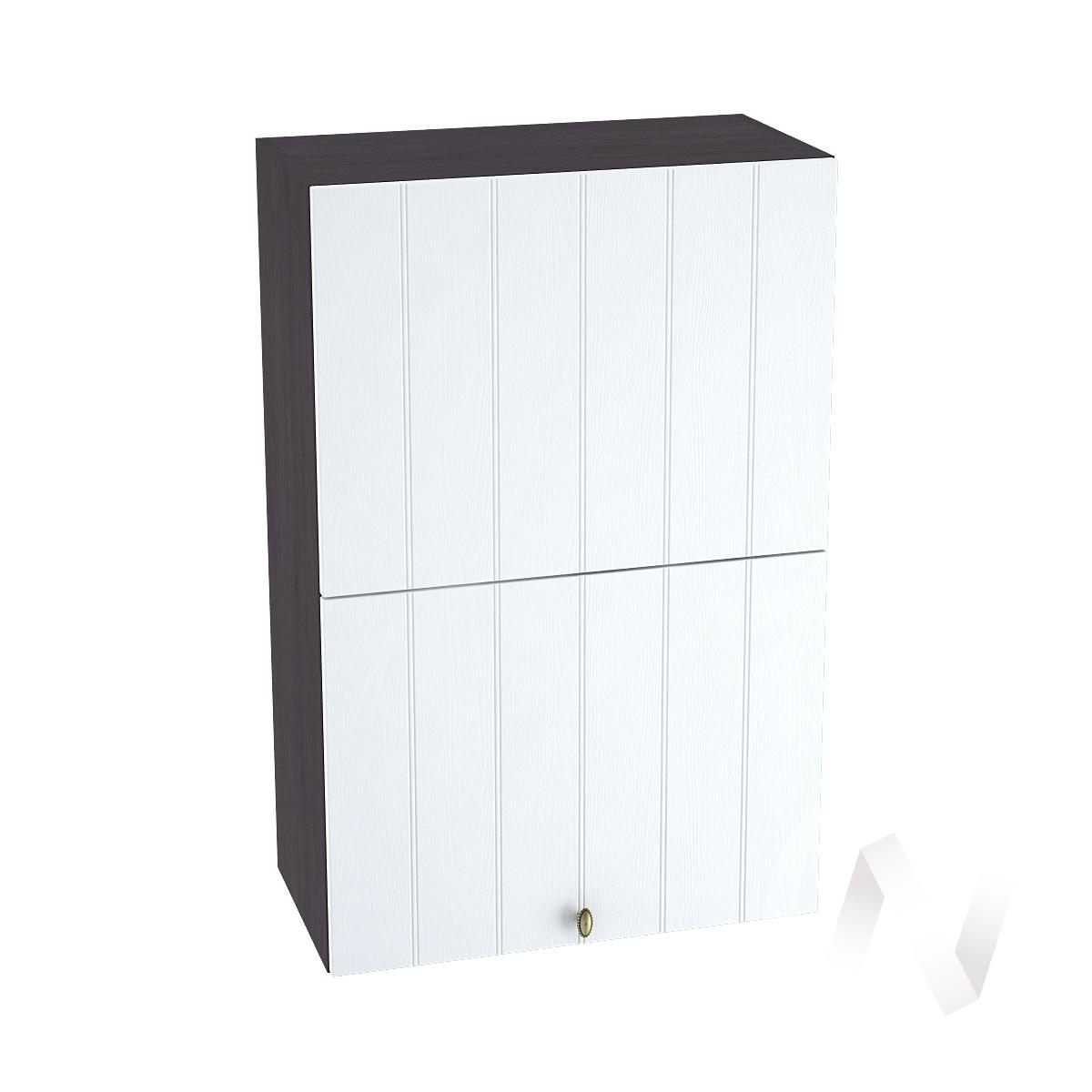 """Кухня """"Прованс"""": Шкаф верхний горизонтальный 602, ШВГ 602 (белое дерево/корпус венге)"""