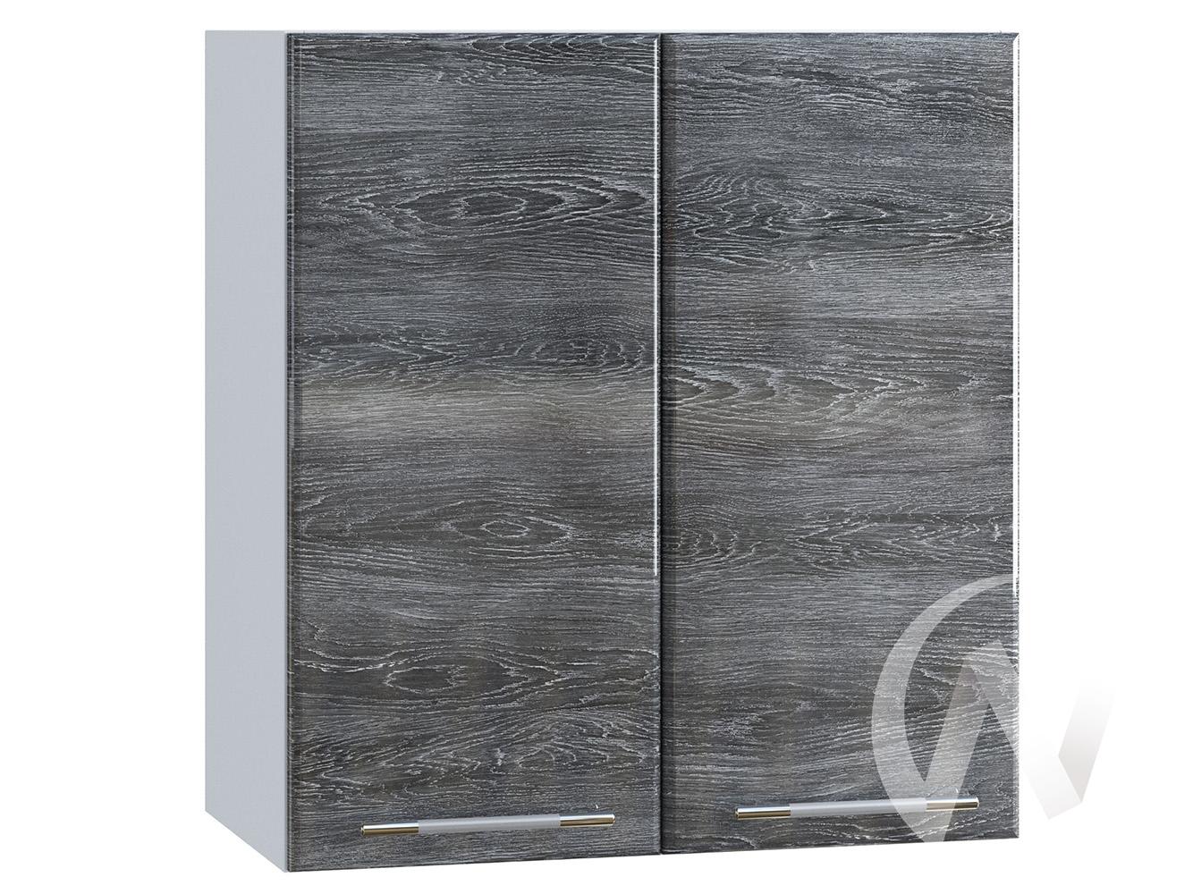 "Кухня ""Танго"": Шкаф верхний 600, ШВ 600 (Дуб шале серебро/корпус белый)"