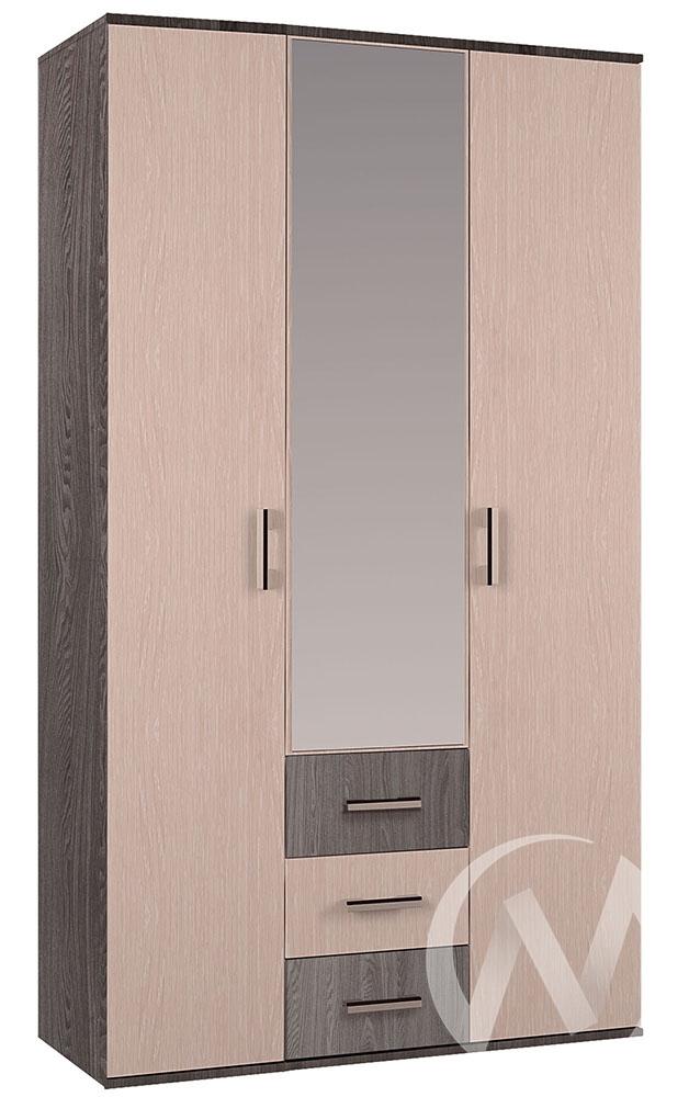 Шкаф 3-х створчатый Гостиная Белла (ясень шимо/дуб атланта)