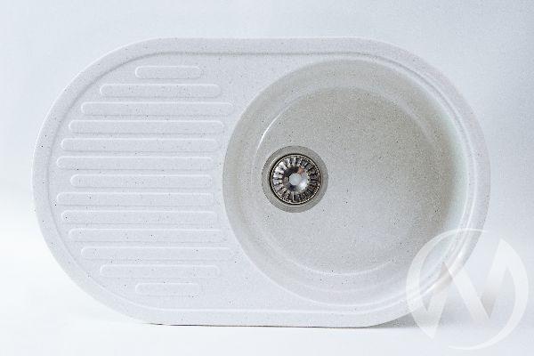 Мойка из искусственного камня Light 6 без фрезы и сифона (белый)
