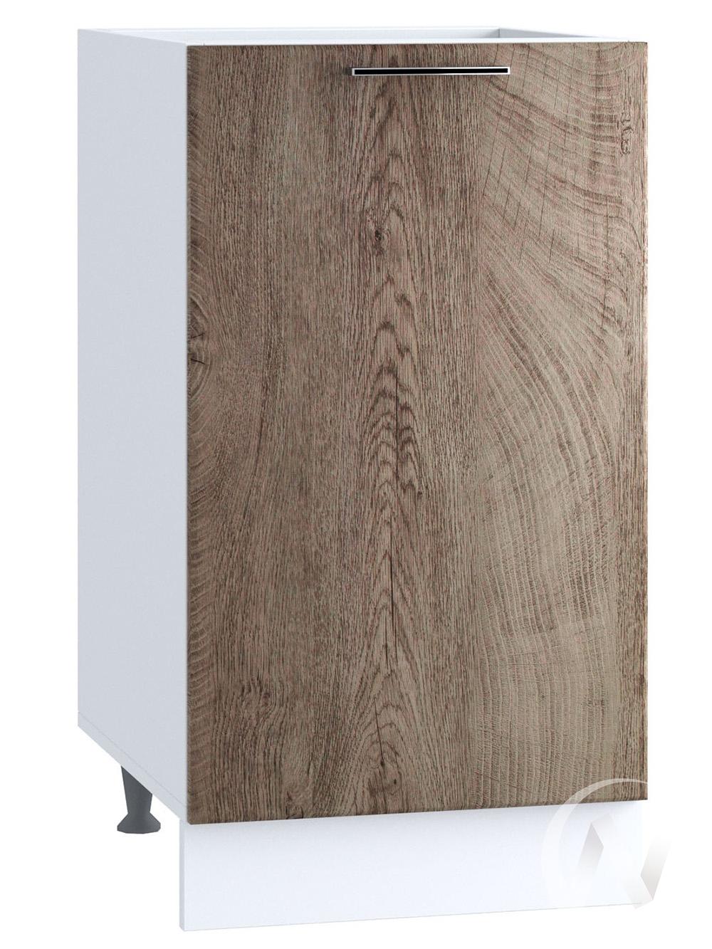 """Кухня """"Палермо"""": Шкаф нижний 400, ШН 400 (Дуб остин беж/корпус белый)"""