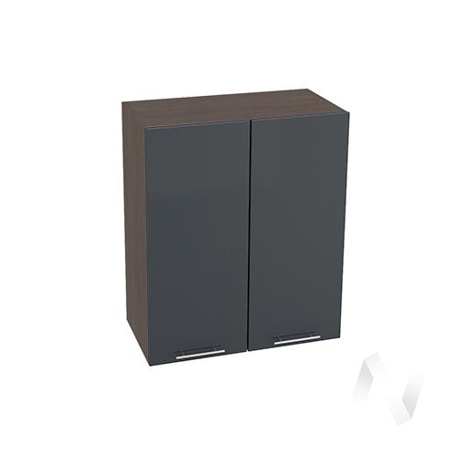 """Кухня """"Валерия-М"""": Шкаф верхний 600, ШВ 600 новый (Антрацит глянец/корпус венге)"""