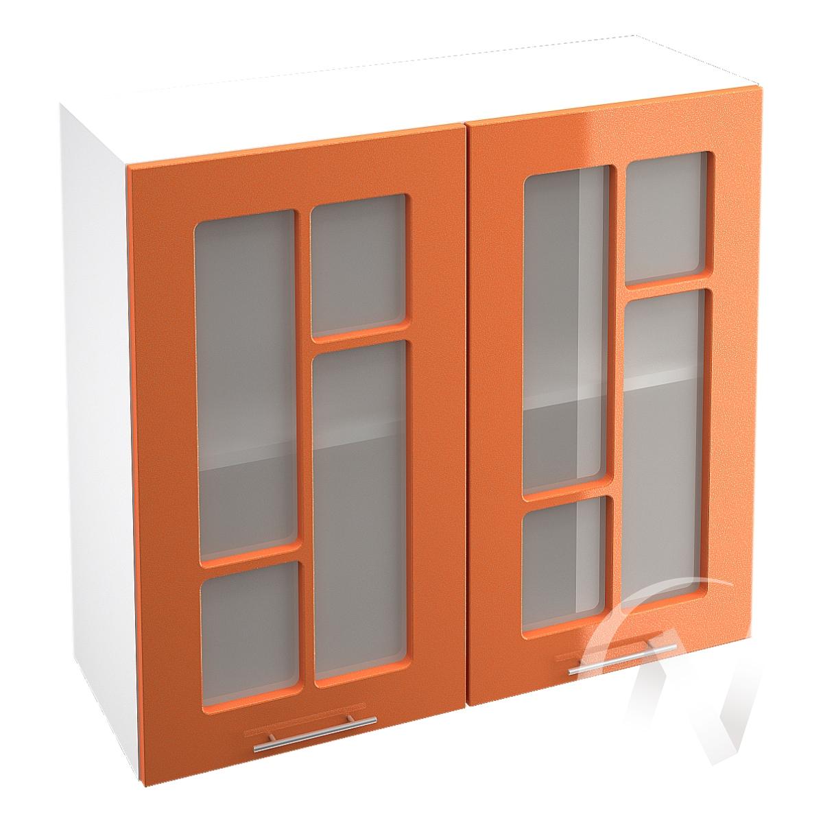"""Кухня """"Техно"""": Шкаф верхний со стеклом 800, ШВС 800 новый (корпус белый)"""