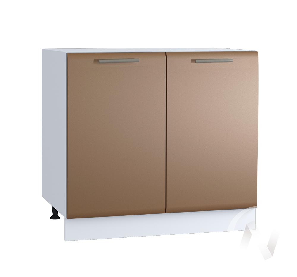 "Кухня ""Люкс"": Шкаф нижний 800, ШН 800 новый (Шоколад матовый/корпус белый)"
