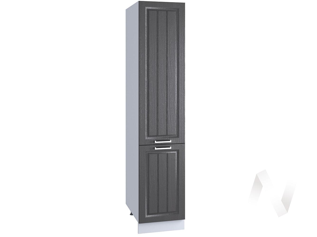 """Кухня """"Луксор"""": Шкаф пенал 400, ШП 400 (Клен серый/корпус белый)"""