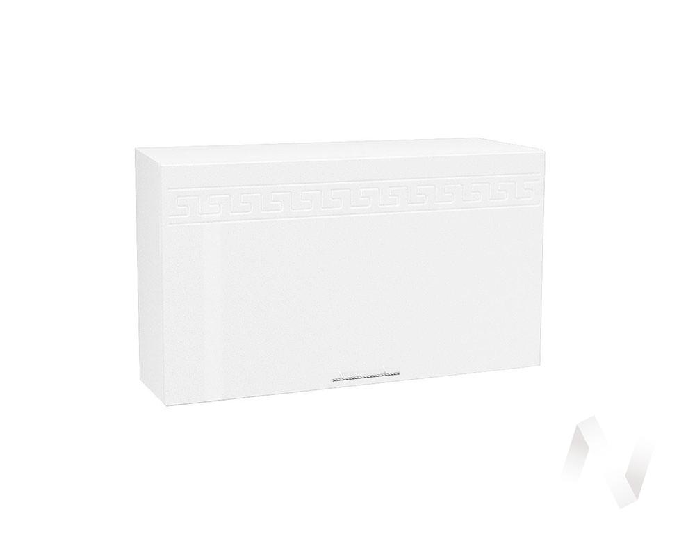 "Кухня ""Греция"": Шкаф верхний горизонтальный 809, ШВГ 809 (белый металлик/корпус белый)"
