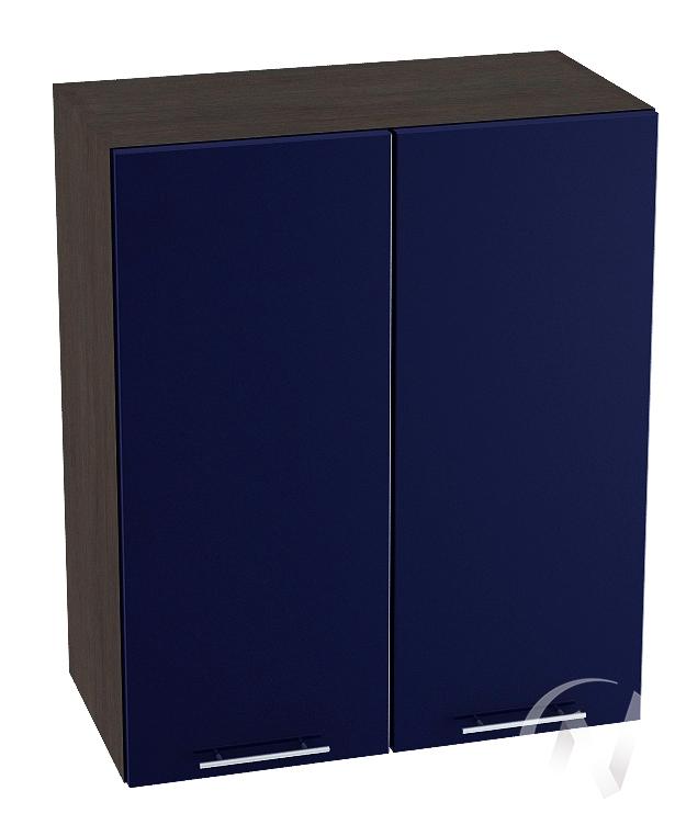 """Кухня """"Валерия-М"""": Шкаф верхний 600, ШВ 600 новый (Синий глянец/корпус венге)"""