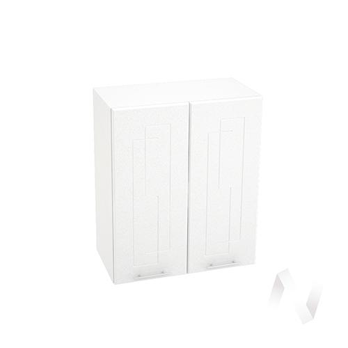 """Кухня """"Вега"""": Шкаф верхний 600, ШВ 600 новый (белый металлик/корпус белый)"""