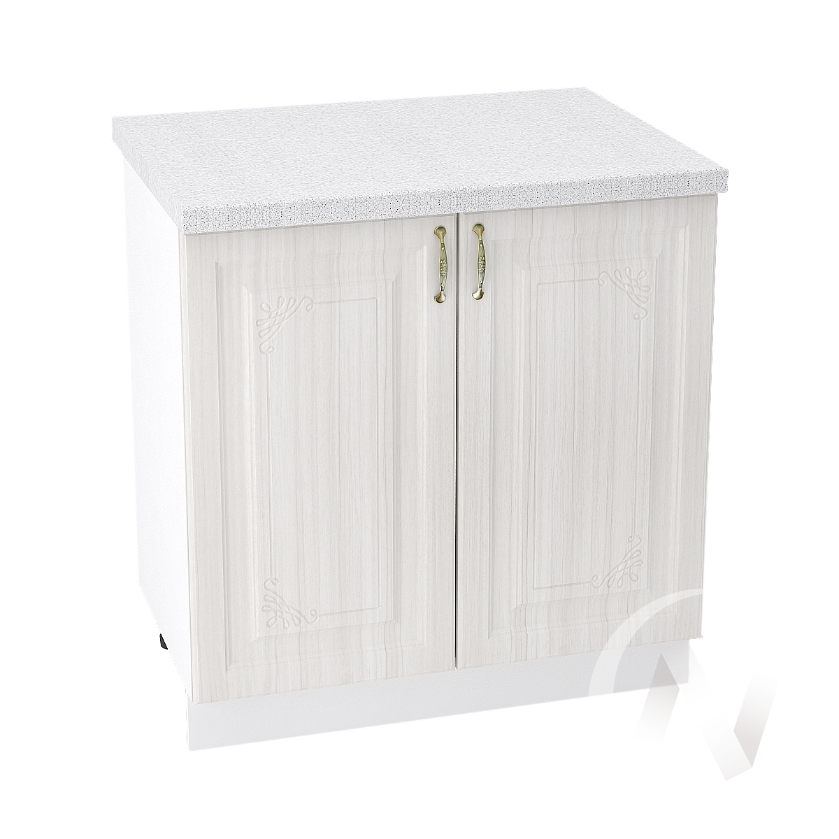 "Кухня ""Виктория"": Шкаф нижний 800, ШН 800 новый (корпус белый)"