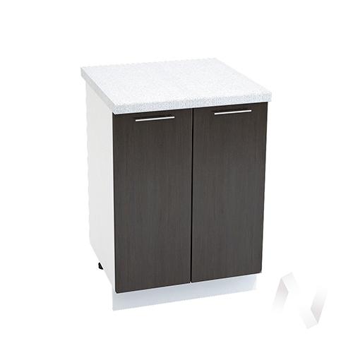 """Кухня """"Валерия-М"""": Шкаф нижний 600, ШН 600 новый (венге/корпус белый)"""