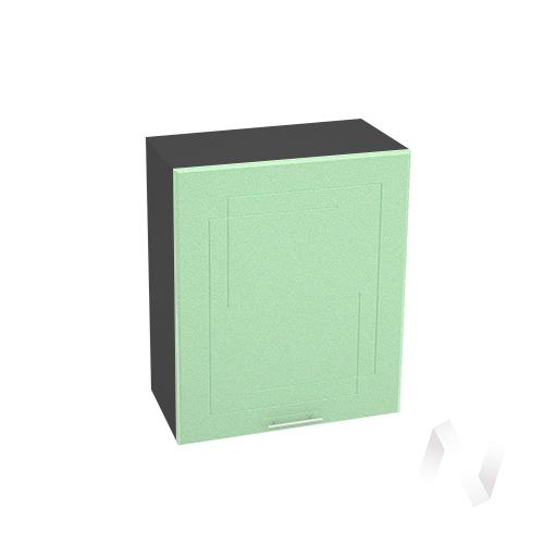 """Кухня """"Вега"""": Шкаф верхний 600, ШВ 600 М (салатовый металлик/корпус венге)"""