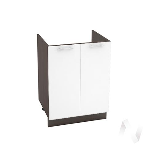 """Кухня """"Валерия-М"""": Шкаф нижний под мойку 600, ШНМ 600 новый (белый глянец/корпус венге)"""