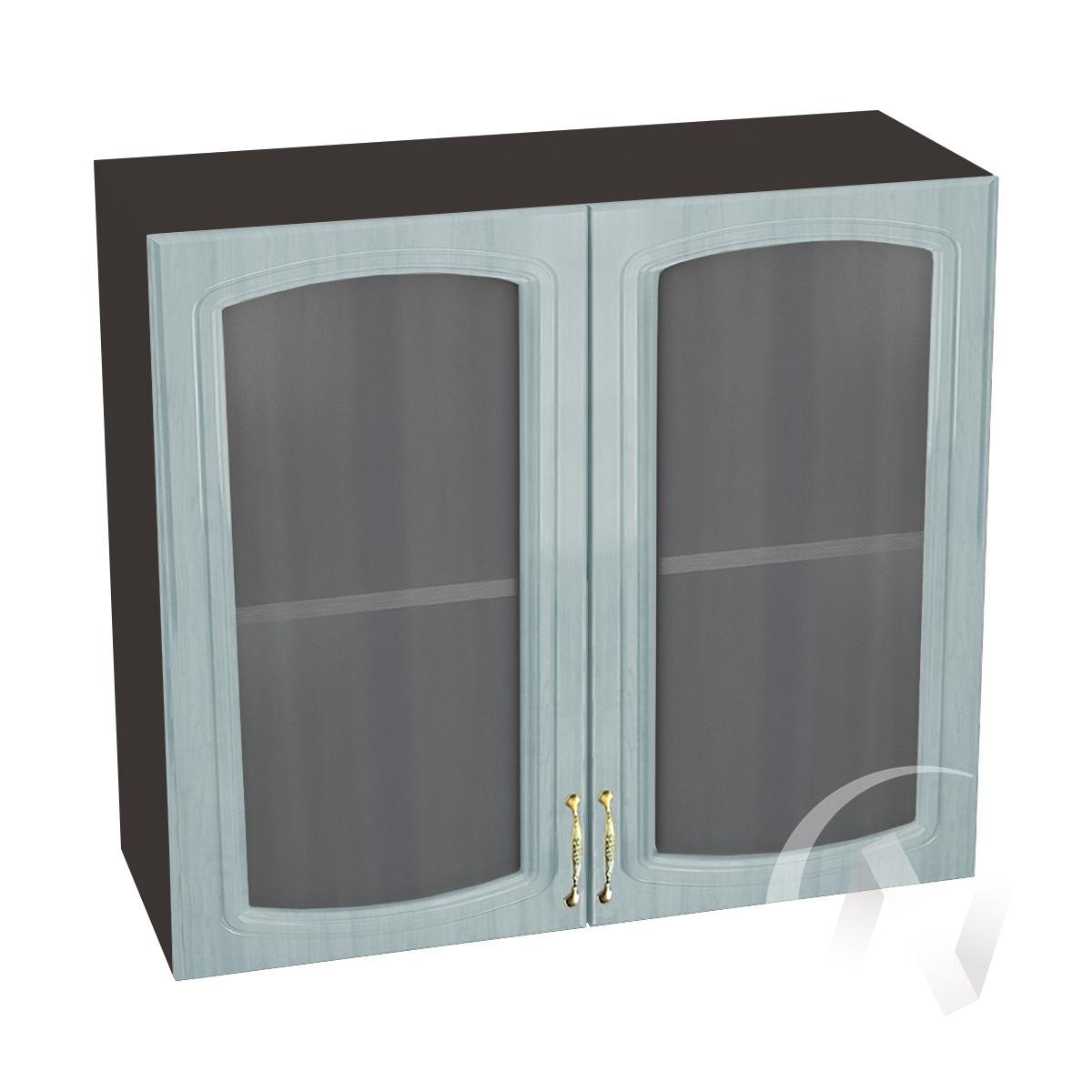 """Кухня """"Сити"""": Шкаф верхний со стеклом 800, ШВС 800 новый (корпус венге)"""