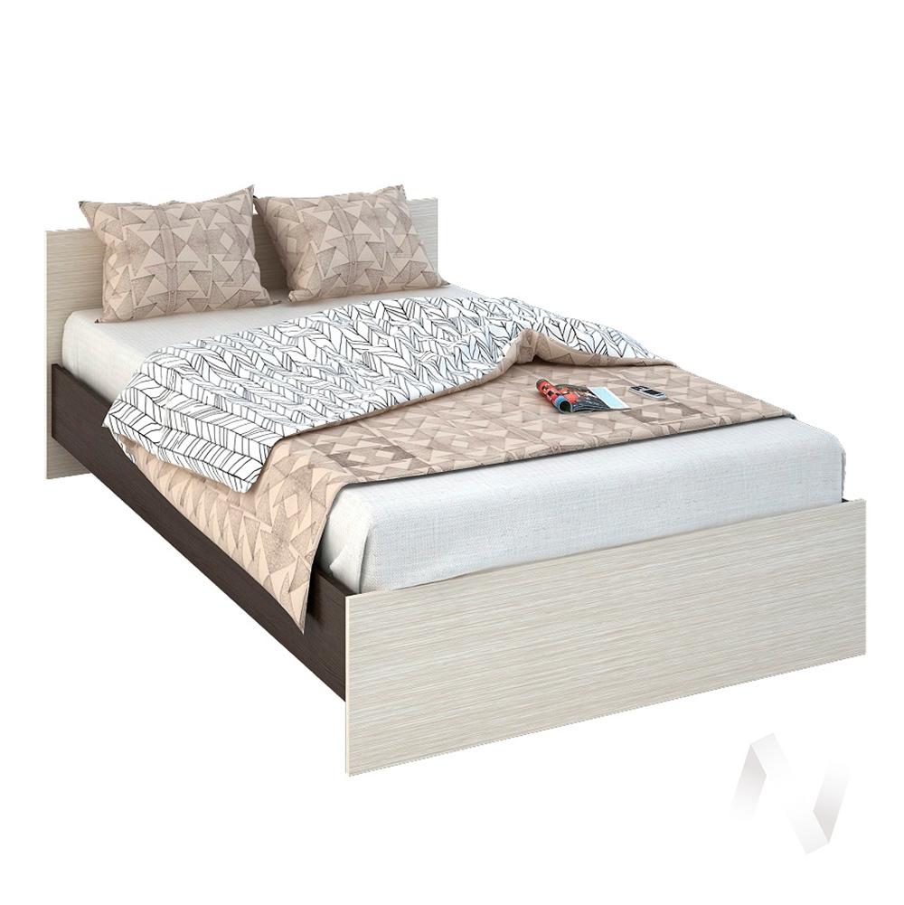 Бася Кровать 1,2  ЛДСП(венге/дуб бел) КР 556