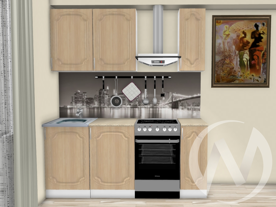 """Кухня """"Настя"""" 1,3м (Береза/корпус белый) корпусно-фасадная  в Томске — интернет магазин МИРА-мебель"""