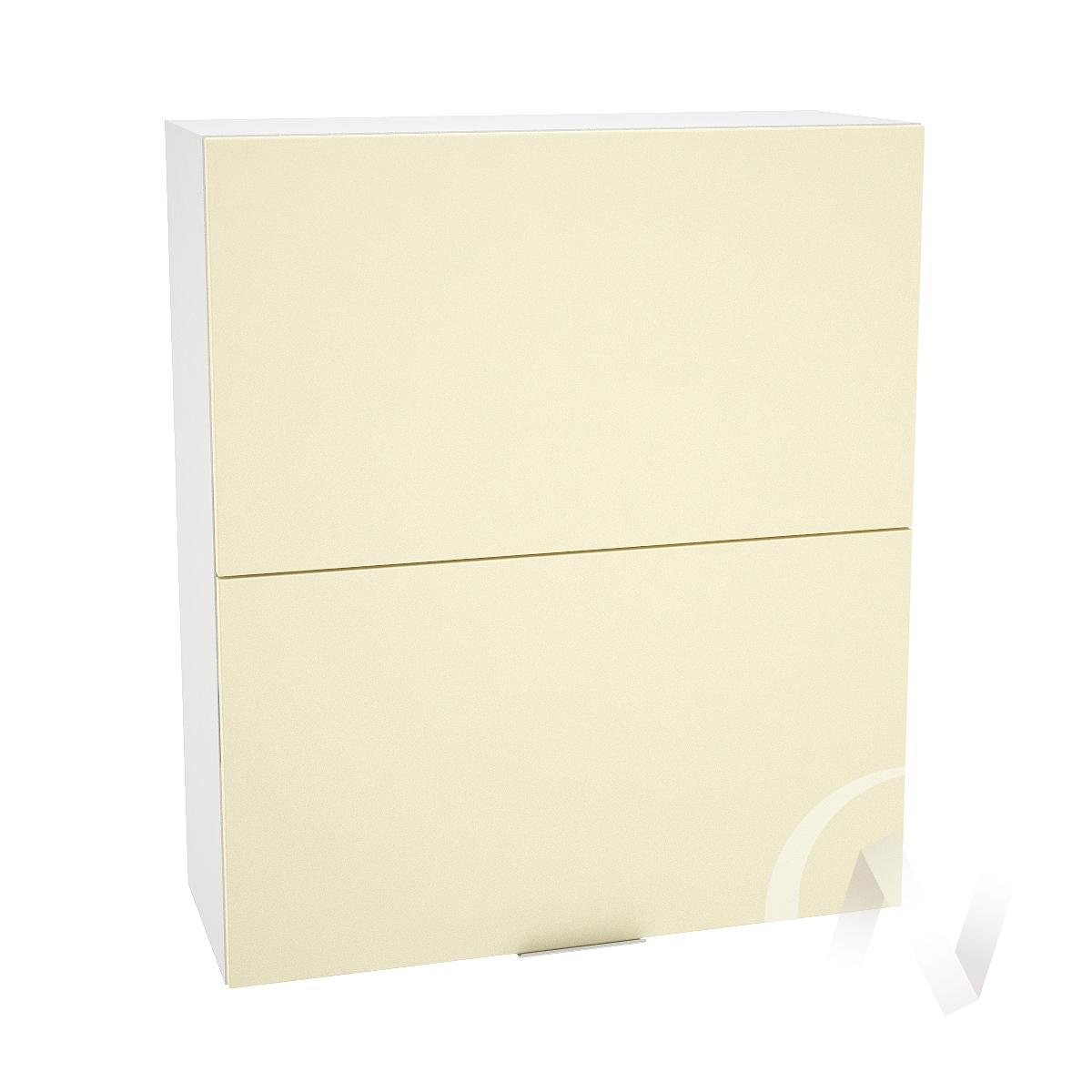"""Кухня """"Терра"""": Шкаф верхний горизонтальный 802, ШВГ 802 (ваниль софт/корпус белый)"""