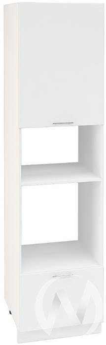 """Кухня """"Валерия-М"""": Шкаф пенал 606МН, ШП 606МН (белый глянец/корпус белый)"""