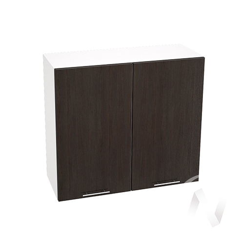 """Кухня """"Валерия-М"""": Шкаф верхний 800, ШВ 800 новый (венге/корпус белый)"""