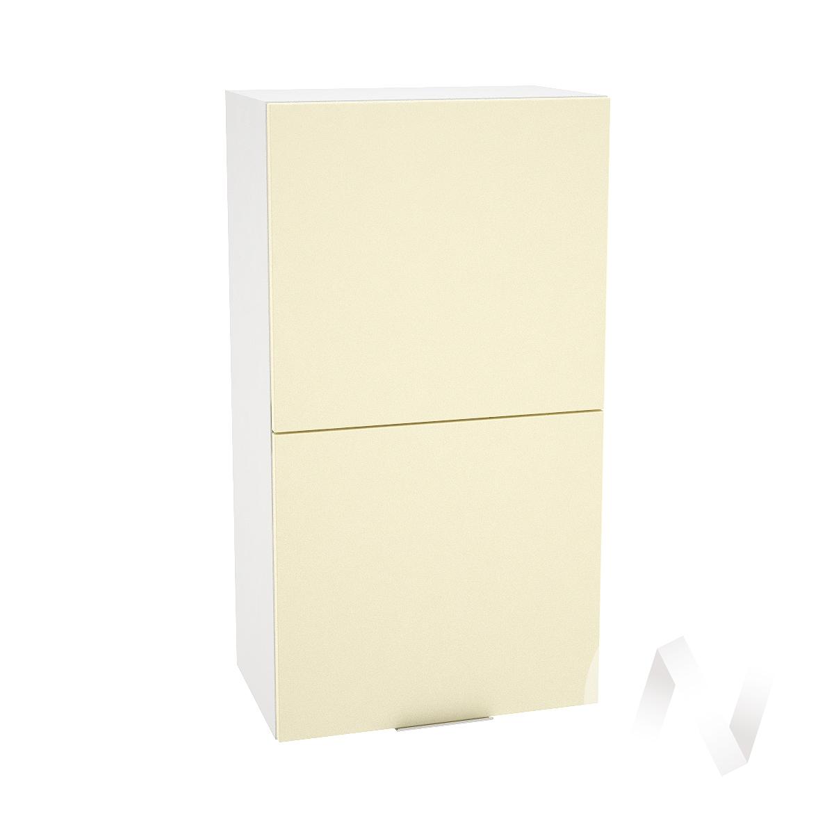 """Кухня """"Терра"""": Шкаф верхний горизонтальный 502, ШВГ 502 (ваниль софт/корпус белый)"""