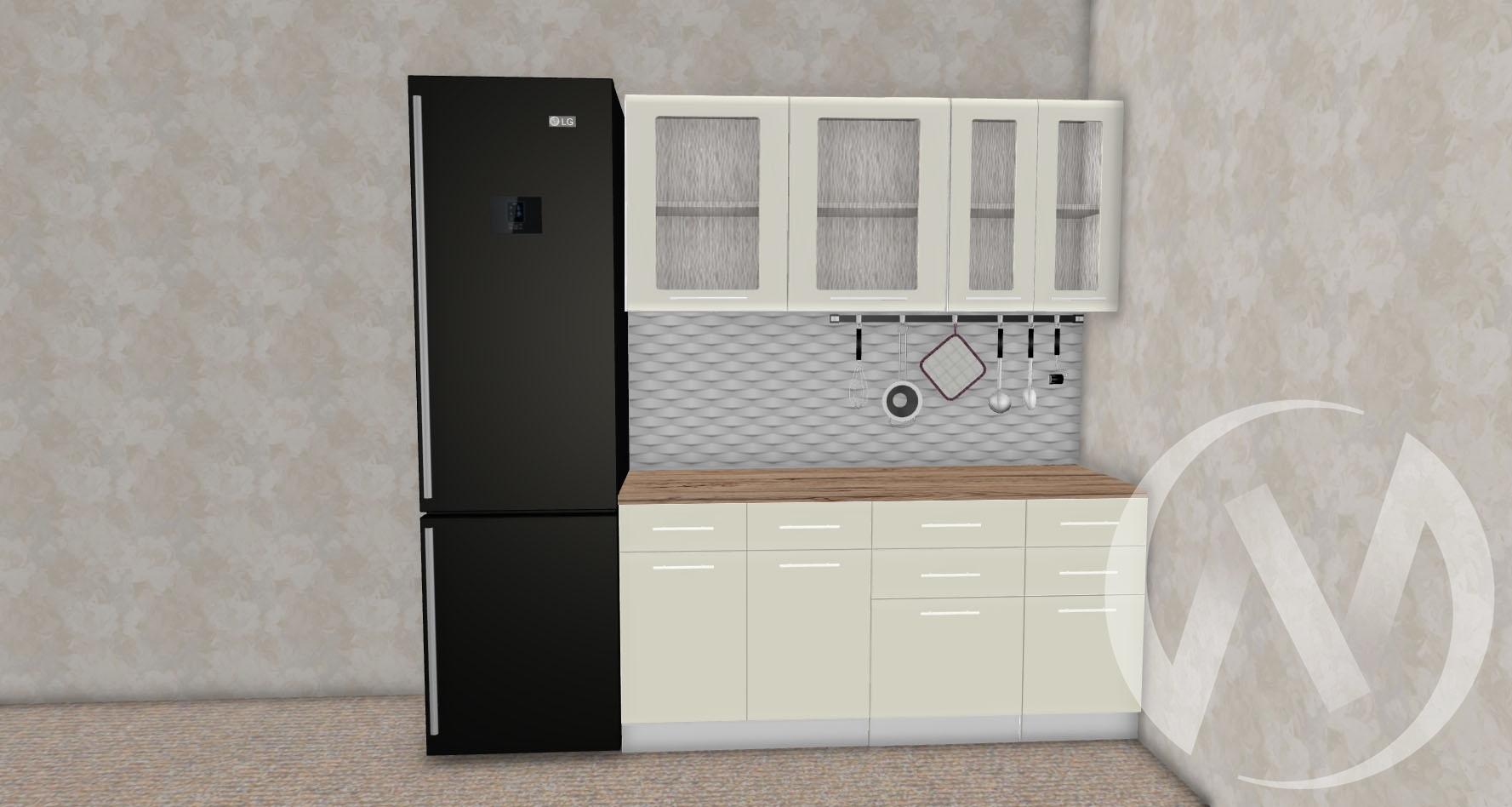 Кухня Магнолия матовая 1,7 №6  в Новосибирске - интернет магазин Мебельный Проспект