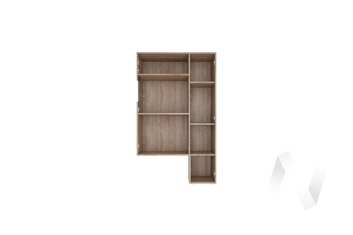 """Надстройка-витрина """"Филадельфия"""" СТЛ.263.03 (Дуб сонома трюфель/Латте)"""