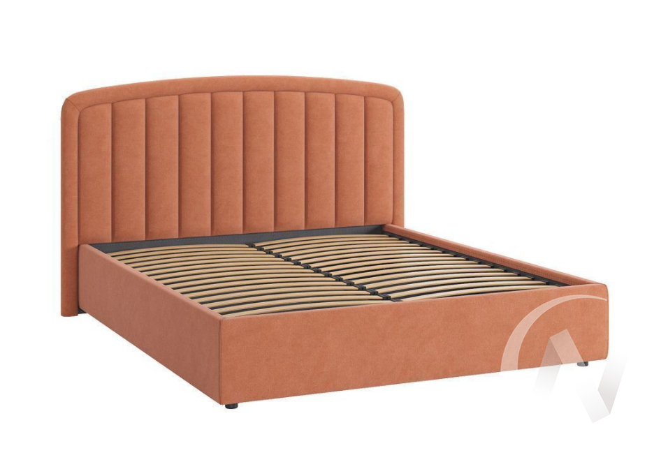 """Кровать мягкая 1,6 с подъемным механизмом """"Сиена-2"""" (Персик)"""