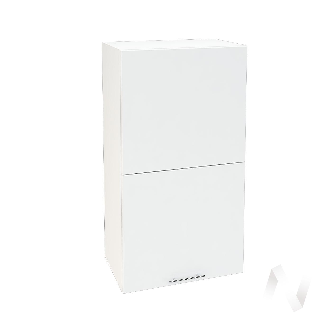 """Кухня """"Валерия-М"""": Шкаф верхний горизонтальный 502, ШВГ 502 (белый глянец/корпус белый)"""
