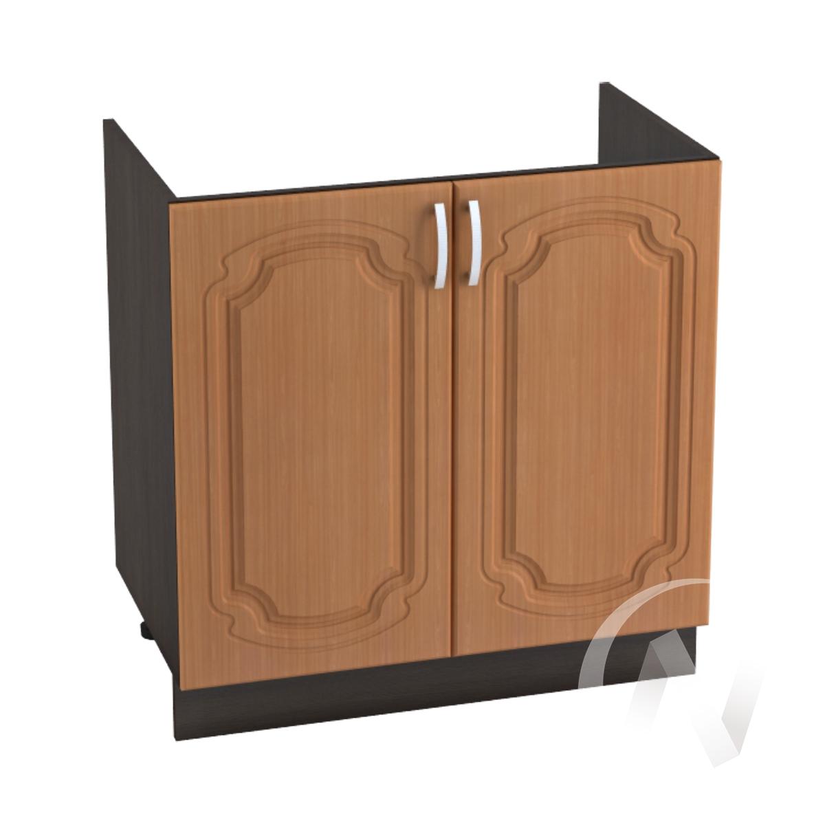 """Кухня """"Настя"""": Шкаф нижний под мойку 800, ШНМ 800 новый (Орех миланский/корпус венге)"""