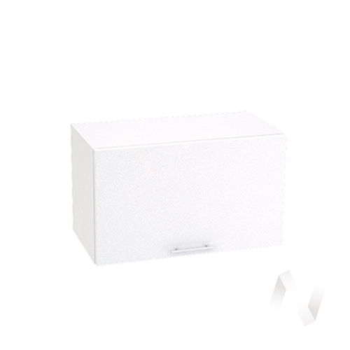"Кухня ""Валерия-М"": Шкаф верхний горизонтальный 600, ШВГ 600 (белый металлик/корпус белый)"