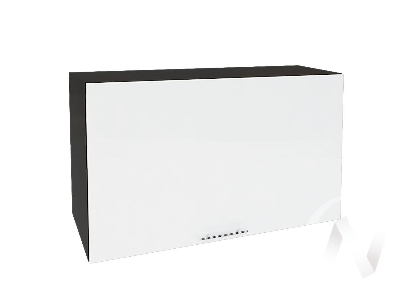 """Кухня """"Валерия-М"""": Шкаф верхний горизонтальный 809, ШВГ 809 (белый глянец/корпус венге)"""