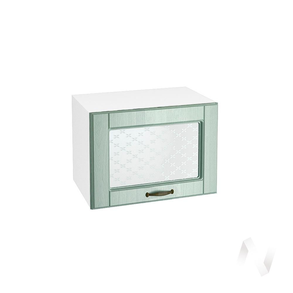 """Кухня """"Прованс"""": Шкаф верхний горизонтальный со стеклом 500, ШВГС 500 (корпус белый)"""