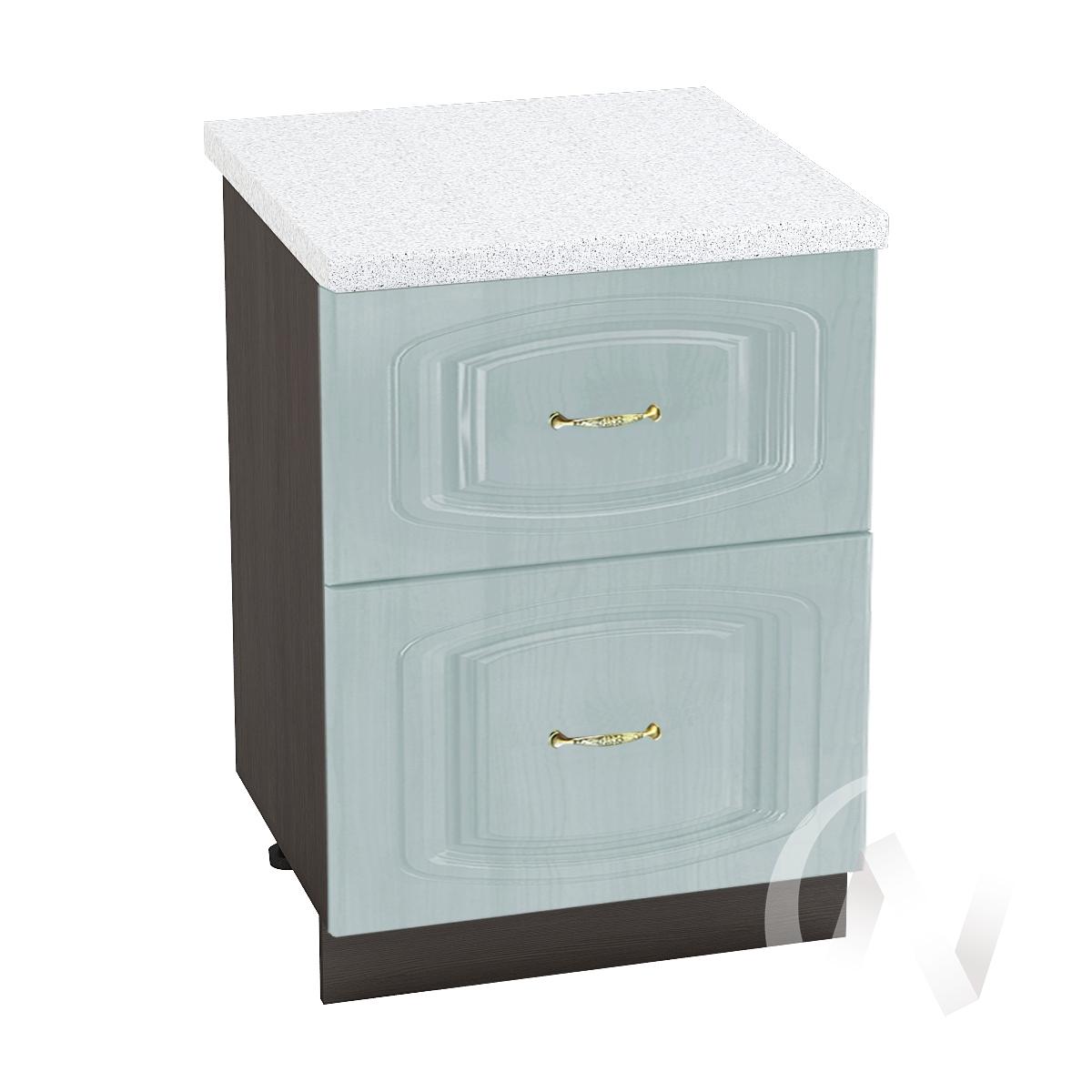 """Кухня """"Сити"""": Шкаф нижний с 2-мя ящиками 600, ШН2Я 600 (корпус венге)"""